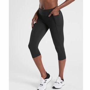 Athleta Black Velocity Stash Pocket Crop - S